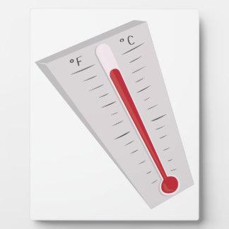 Termómetro caliente placa de plastico