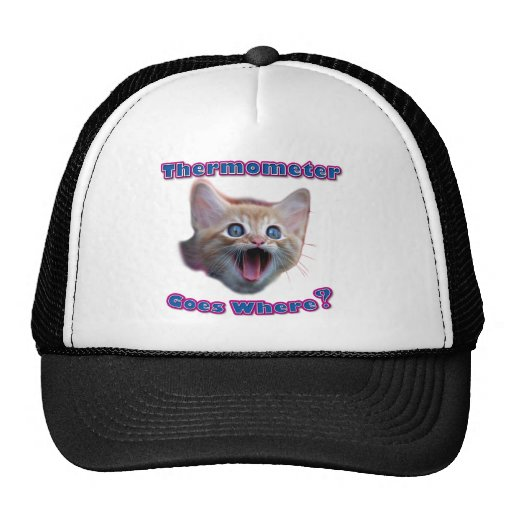 Termómetro del gato gorra