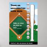 Termómetro Fundraising del béisbol Impresiones