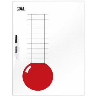 termómetro Fundraising Re-usable Pizarra Blanca