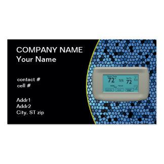 termóstato fresco del ajuste tarjeta de visita