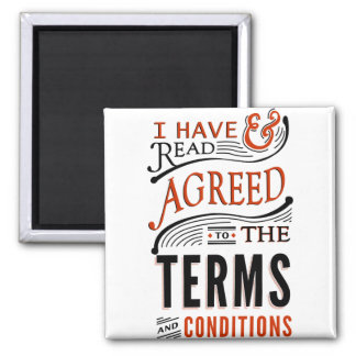 Terms And Conditions Magnet