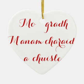 Terms of Endearment; Valentines Ceramic Ornament