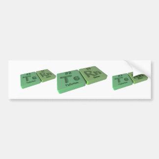 Tern as Te Tellurium and Rn Radon Bumper Sticker