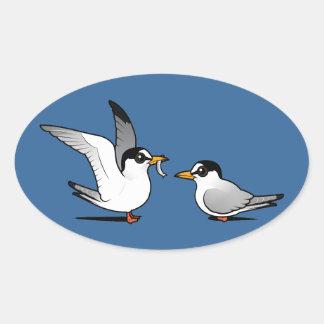 Tern Love Oval Stickers