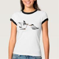 Least Tern Love Ladies Ringer T-Shirt