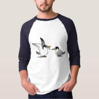 Least Tern Love Men's Basic 3/4 Sleeve Raglan T-Shirt