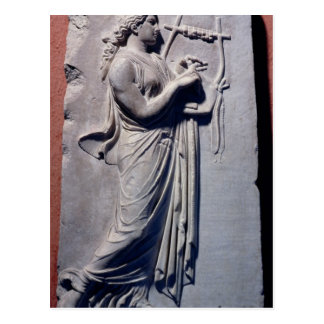 Terpsichore, the muse of dancing and song postcard
