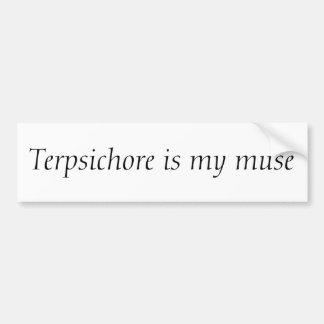 Terpsícore es mi musa pegatina para auto