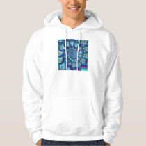 Terquoise Blue Balls Fractal Pattern Hoodie