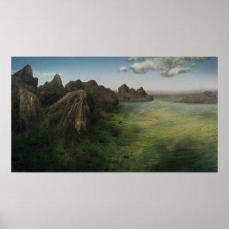Terra - 14x24 Madagascar Mountain Painting Print