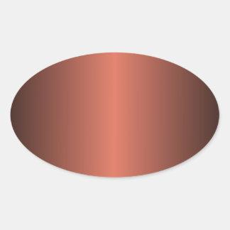 Terra Cotta and Black Gradient Oval Sticker