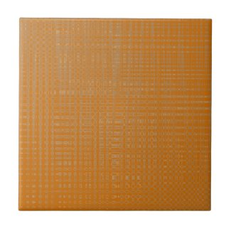 Terra Cotta Color Weave Ceramic Tile