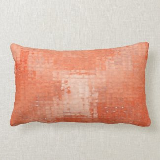 Terra Cotta Distressed Grunge Lumbar Pillow
