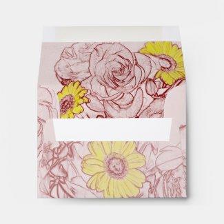 Terra Cotta Edged Bouquet Envelope