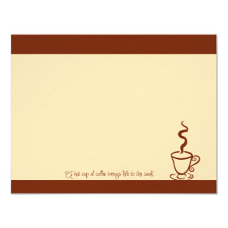 Terra Cotta Life to the Soul Coffee Cup Note Cards