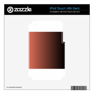 Terra Cotta to Black Vertical Gradient Decal For iPod Touch 4G