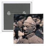 Terra Cotta warriors in Emperor Qin Shihuang's 2 2 Inch Square Button
