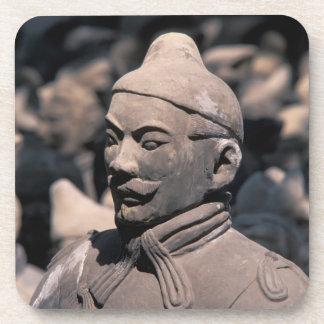 Terra Cotta warriors in Emperor Qin Shihuang's 2 Drink Coaster