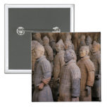 Terra Cotta warriors in Emperor Qin Shihuang's 2 Inch Square Button