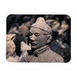Terra Cotta warriors in Emperor Qin Shihuang's 2 Rectangular Photo Magnet