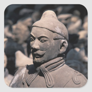 Terra Cotta warriors in Emperor Qin Shihuang's 2 Square Stickers
