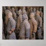 Terra Cotta warriors in Emperor Qin Shihuang's Poster