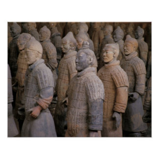 Terra Cotta warriors in Emperor Qin Shihuang's Poster
