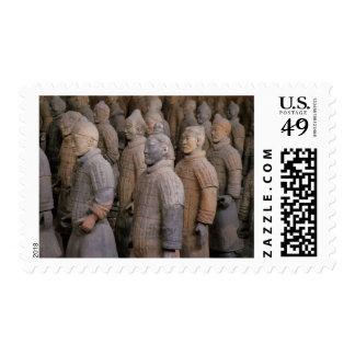 Terra Cotta warriors in Emperor Qin Shihuang's Stamp