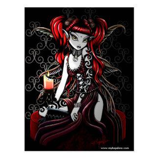 Terra Darkness Fire Fairy Postcard