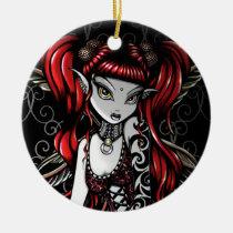 terra, gothic, fairy, faery, faerie, fae, fantasy, tribal, tattoo, fire, art, myka, jelina, big, eyed, mika, faeries, Ornament with custom graphic design