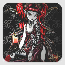 terra, gothic, fairy, faery, faerie, fae, fantasy, tribal, fire, art, myka, jelina, big, eyed, mika, faeries, Sticker with custom graphic design