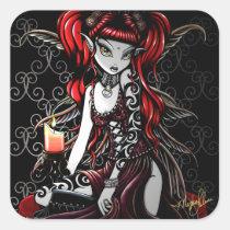 terra, gothic, fairy, faery, faerie, fae, fantasy, tribal, fire, art, myka, jelina, big, eyed, mika, faeries, Sticker with custom graphic design