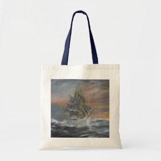 Terra Nova heads into a fierce Gale Dawn Budget Tote Bag
