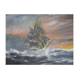Terra Nova heads into a fierce Gale Dawn Canvas Print
