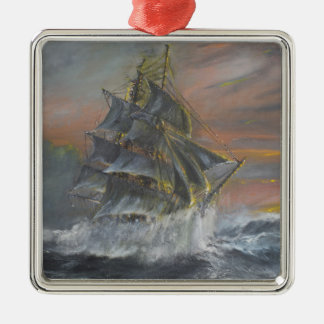 Terra Nova heads into a fierce Gale Dawn Metal Ornament