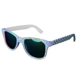 Terra Planet Earth Space Geek Blue And Green Sunglasses
