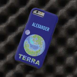 Terra Planet Earth Space Geek Blue And Green Tough iPhone 6 Case