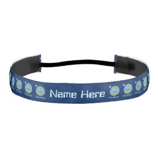 Terra Planet Earth Space Geek Blue And Green Athletic Headbands
