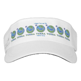 Terra Planet Earth Space Geek Blue And Green Visor