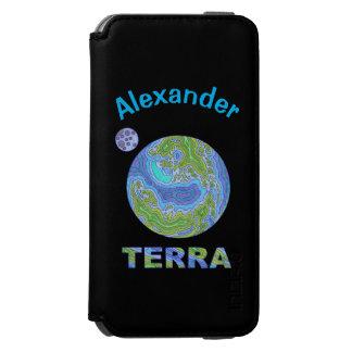 Terra Planet Earth Space Geek Blue And Green Incipio Watson™ iPhone 6 Wallet Case