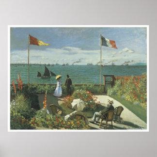 Terrace at Sainte-Adresse, 1867 Claude Monet Poster