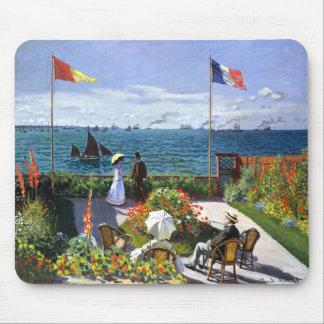 Terrace at Sainte Adresse, Claude Monet Mouse Pad