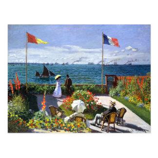 Terrace at Sainte Adresse, Claude Monet Postcard