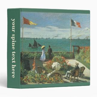 Terrace at the Seaside by Claude Monet Vinyl Binder