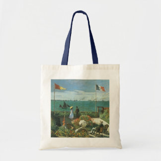 Terrace at the Seaside by Claude Monet Budget Tote Bag