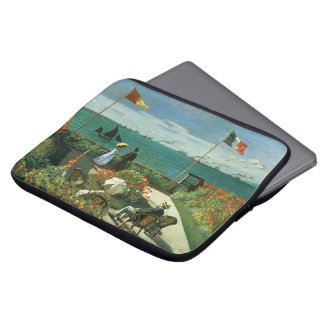 Terrace at the Seaside by Claude Monet Computer Sleeve