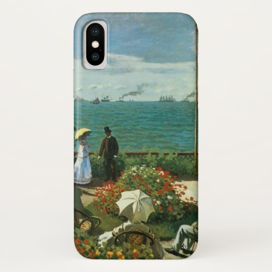 Terrace at the Seaside by Claude Monet iPhone X Case