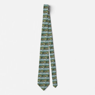 Terrace at the Seaside by Claude Monet Neck Tie
