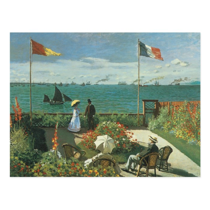 Terrace at the Seaside by Claude Monet Postcard